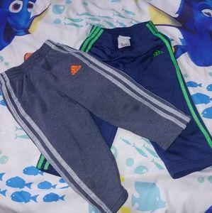 Bundle adidas pants 2t/24 months